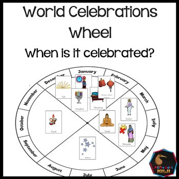 World Celebrations Wheel. When is that celebration? - montessorikiwi