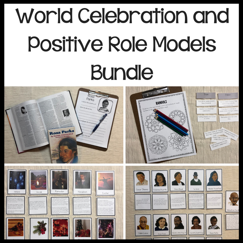Positive Role Model and World Celebration bundle - montessorikiwi