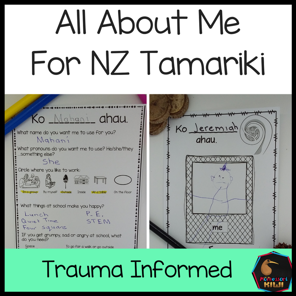 All About Me for NZ Yrs 1 - 8 - montessorikiwi