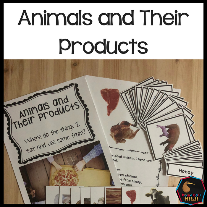Animals and their products (food products and uses) - montessorikiwi