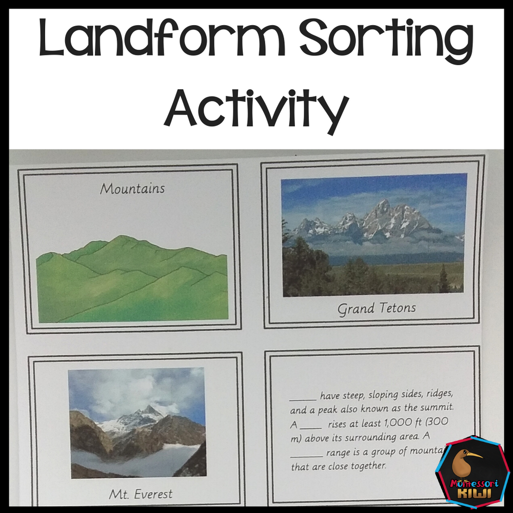 Landform Sorting (Montessori Inspired) - montessorikiwi