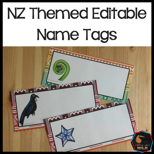 Editable New Zealand Name Tags - montessorikiwi