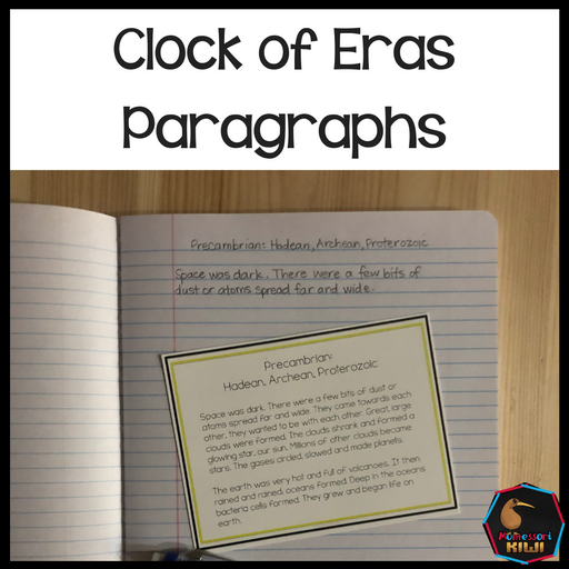 Clock of Eras paragraphs - montessorikiwi