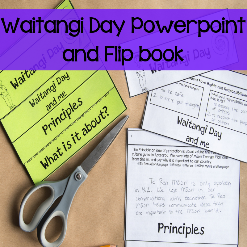 Waitangi Day Powerpoint and Flip book - montessorikiwi