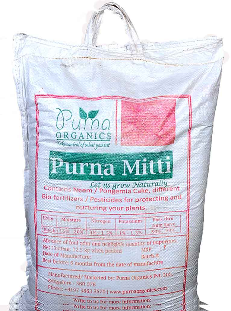 Purna Mitti - 60 Kgs (Set of 6 bags / 10 Kg Each)