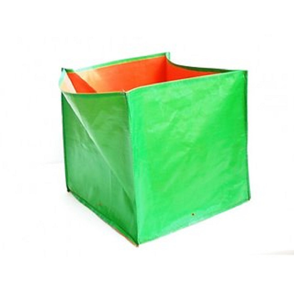 Purna Grow Bags for Terrace Gardening - Green  (30 x 30 x 30 Cms each) Set of 5 Bags