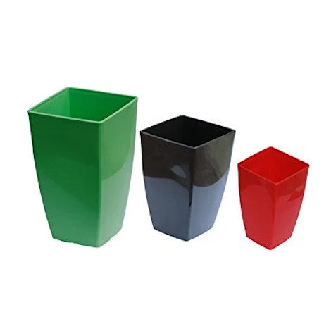 Vertical Planter - Small Black  Height x Width x Breadth 20 x 12 x 12 cm