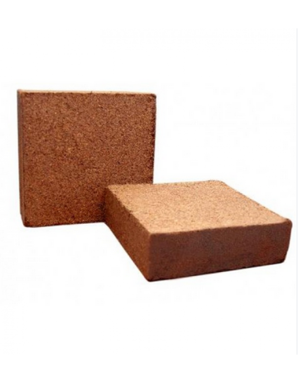 Purna Cocopeat Brick  (2 X 5 Kg) - Expands to 150 Litres of Cocopeat Powder
