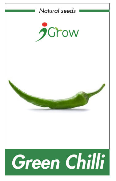 Naturally Treated Organic Green Chili Seeds (50 SEEDS)