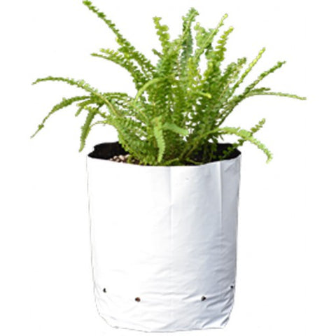Purna Grow Bags for Terrace Gardening - White  (24 x 30 Cms each) Set of 5 Bags