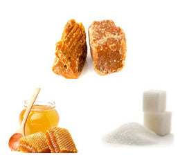 Jaggery, Sugar, Honey