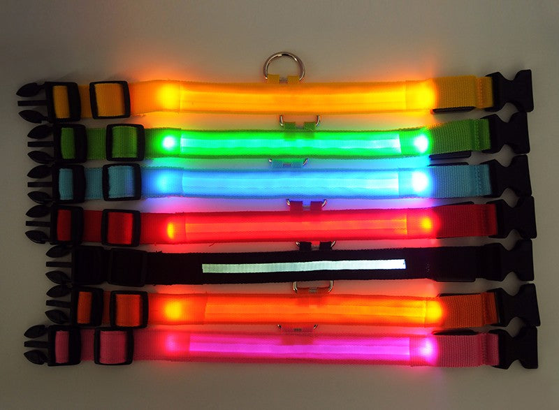 Nylon LED Pet Collar -  Redsvill
