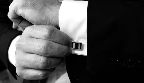 Classic Silver Cufflinks - ONE BOND STREET