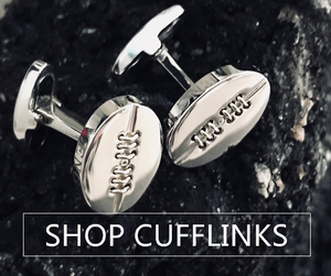 SILVER CUFFLINKS - ONE BOND STREET
