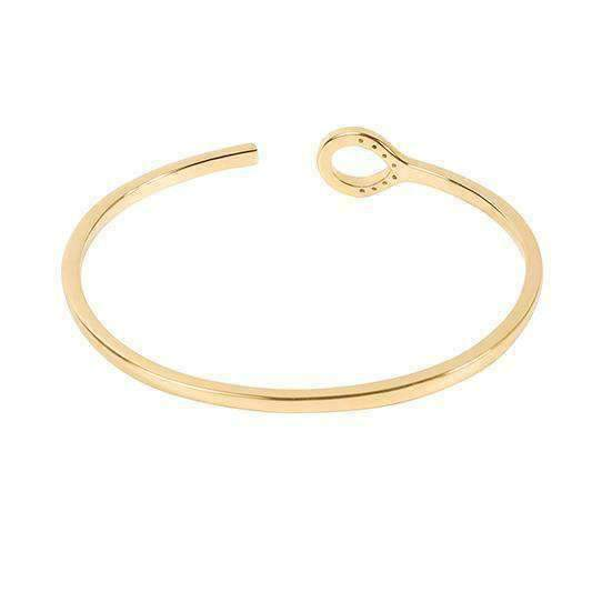 GOLD FLORENCE Silver Bangle - One Bond Street