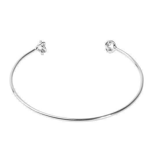 LUCKY KNOT SILVER Silver Bangle  - One Bond Street