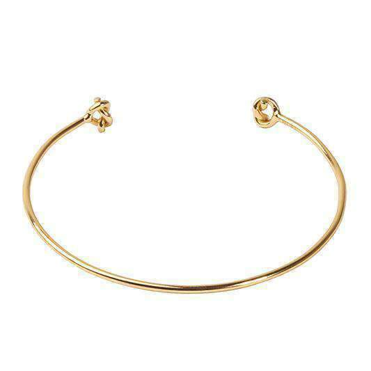 LUCKY KNOT GOLD Silver Bangle  - One Bond Street