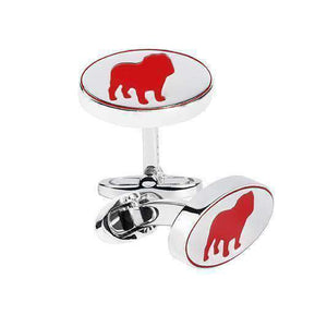 Sterling Silver Cufflinks CHINESE YEAR OF THE (BULL) DOG - One Bond Street