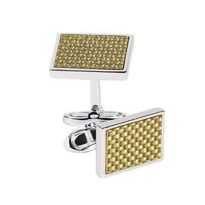 Sterling Silver Cufflinks CARBON FIBRE - One Bond Street