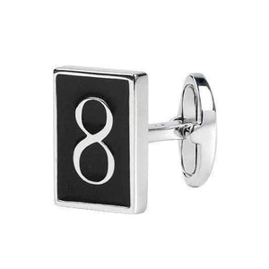 Sterling Silver Cufflinks NUMBER 8 - One Bond Street