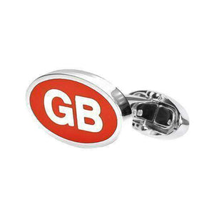 Sterling Silver Cufflink GB - One Bond Street