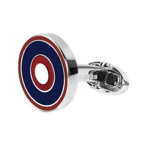 Sterling Silver Cufflinks NAVY, RED & WHITE - One Bond Street