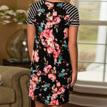 Women's Floral T-Shirt Dress