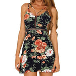 Women's Floral Cross Front Dress