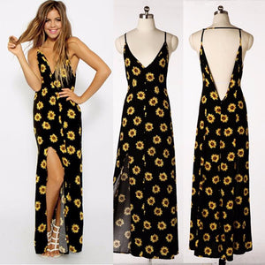 Women's Sunflower Maxi Dress