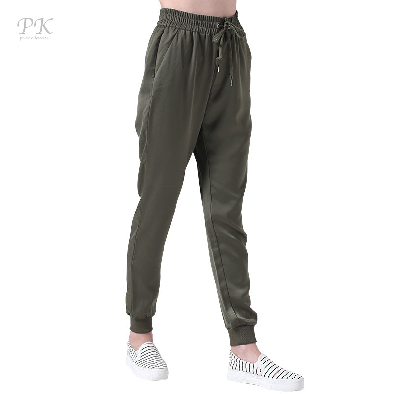 Army Green Joggers with Pockets