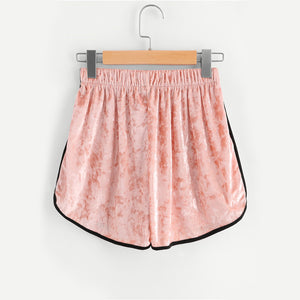 Women's Loose Velvet Summer Shorts