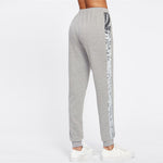 Women's Gray Mid Waist Sweatpants