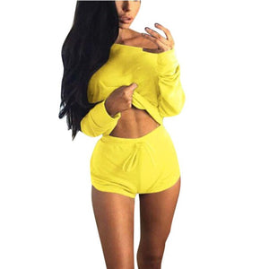 Women's Solid Color Two Piece Set