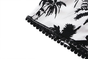 Women's Palms Printed Summer Shorts