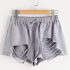 Women's Hole Ripped Summer Shorts