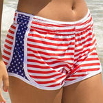 Women's Striped Printed Summer Shorts