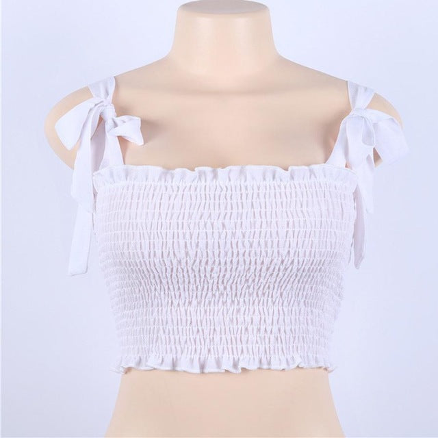 Women's Tie Crop Top
