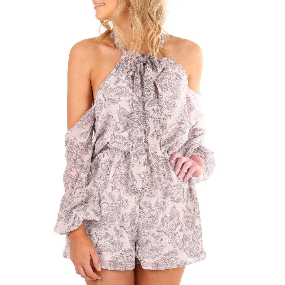 Women's Cold Shoulder Romper