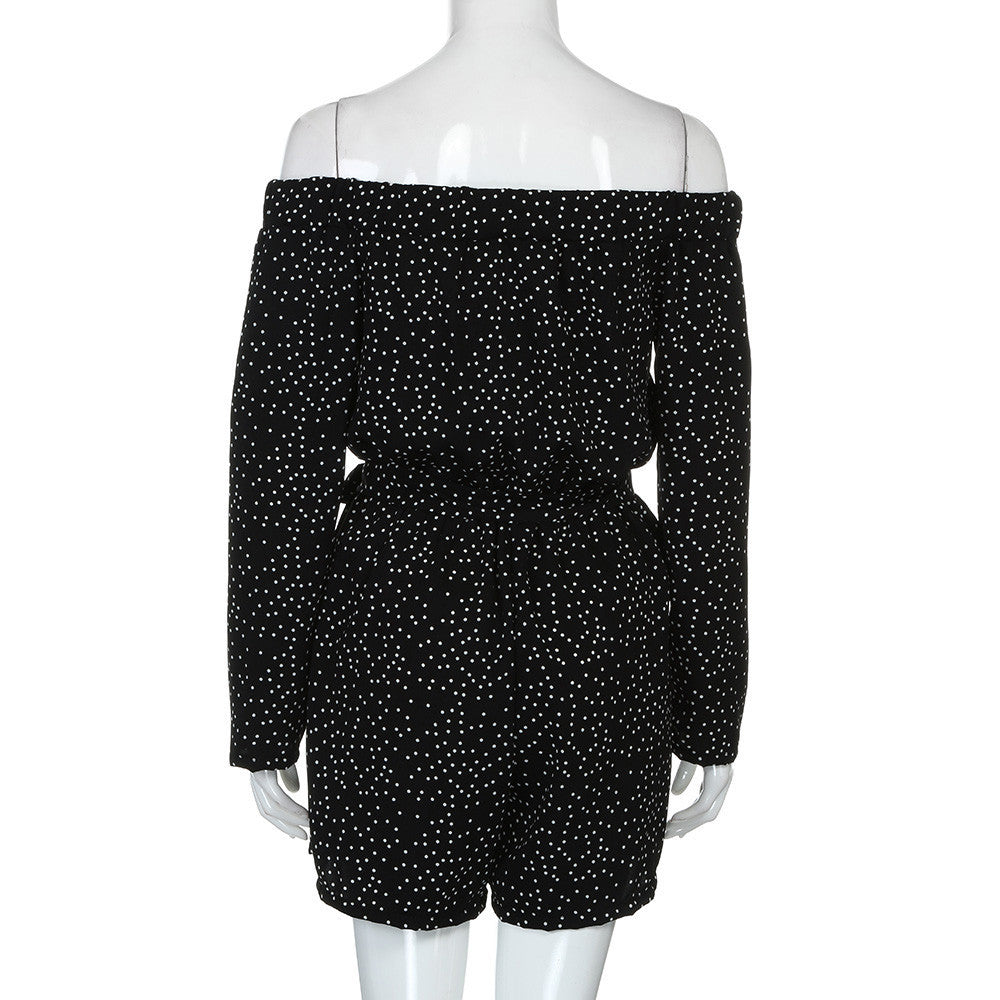 Women's Polka Dot Romper
