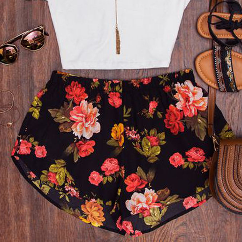 Women's Floral Printed Summer Shorts