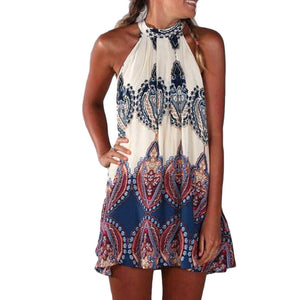 Women's Boho Halter Dress