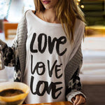 Women's 'Love Love Love' Long Sleeve