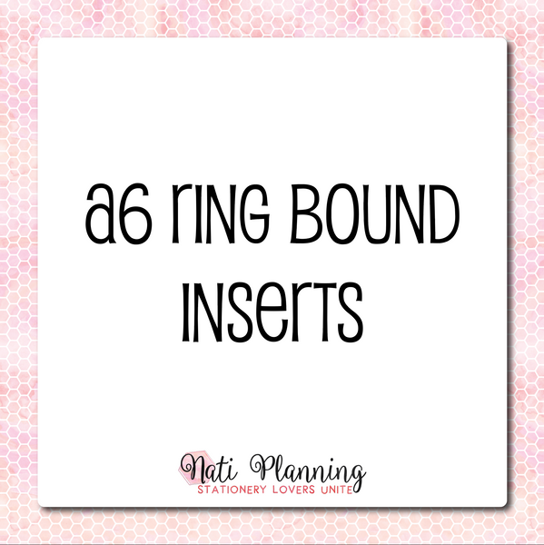 A6 Ring Bound Inserts