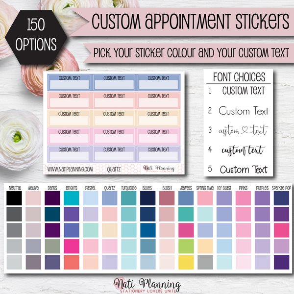 Custom Appointment Label Stickers