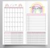 20/21 FINANCIAL YEAR MONTHLY RAINBOW DESIGN TN - HOBONICHI WEEKS SIZE INSERTS