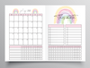 20/21 FINANCIAL YEAR MONTHLY RAINBOW DESIGN TN - B6 NO.5 SIZE INSERT