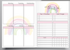 WEEKLY EC RAINBOW DESIGN - WITH BACKGROUND RAINBOW - B6 NO.5 TN INSERTS