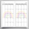 20/21 FINANCIAL YEAR MONTHLY MO2P RAINBOW DESIGN TN - HOBONICHI WEEKS SIZE INSERTS