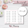 Date Night Bow Script Stickers