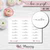 Me Time Bow Script Stickers